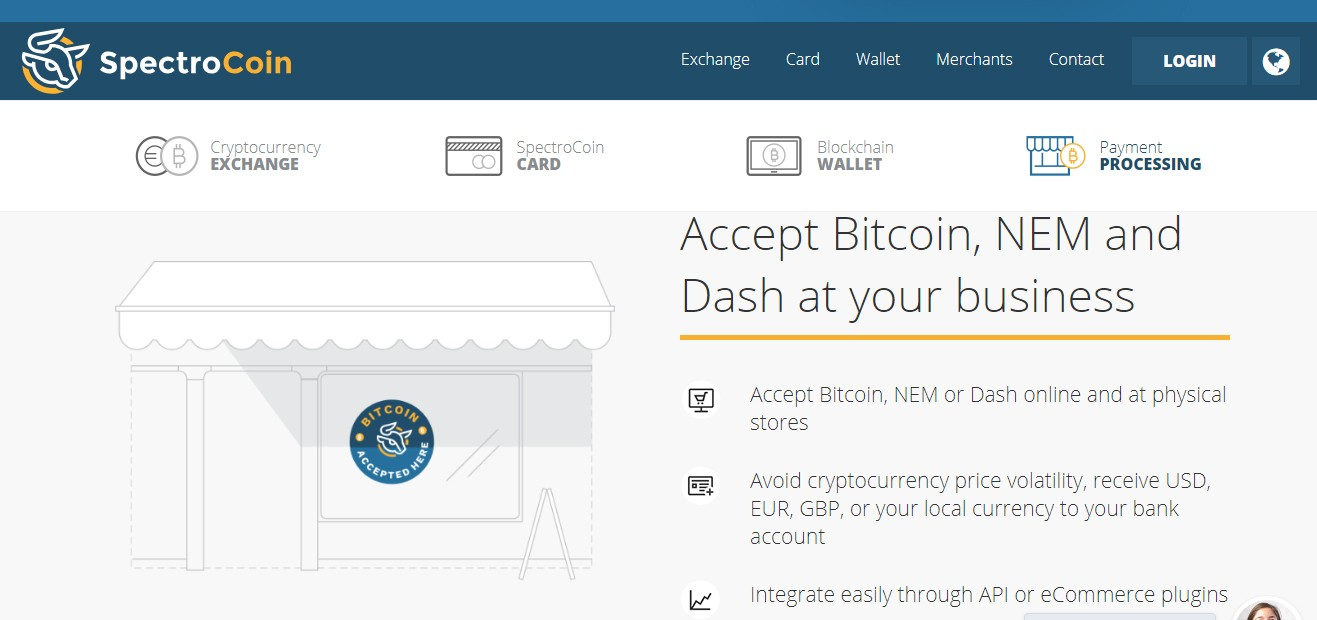 SpectroCoin - Bitcoin Payment Gateway