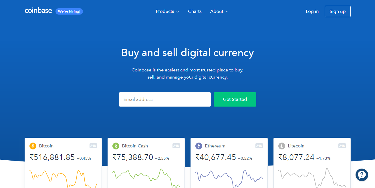 Best Fiat Cryptocurrency Exchange - Coinbase