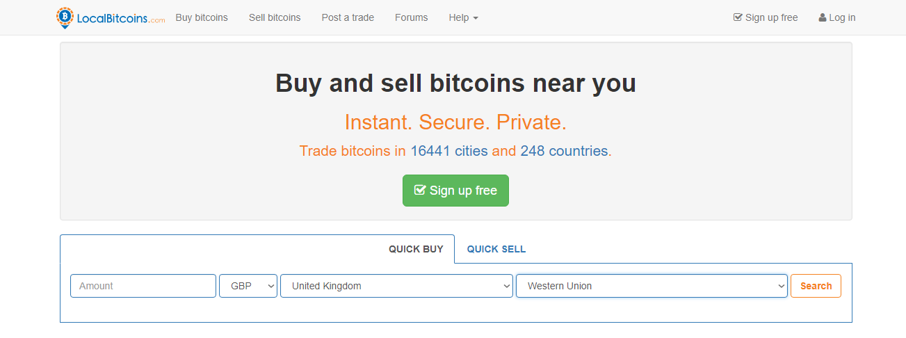 LocalBitcoins - Buy Bitcoin with Western Union