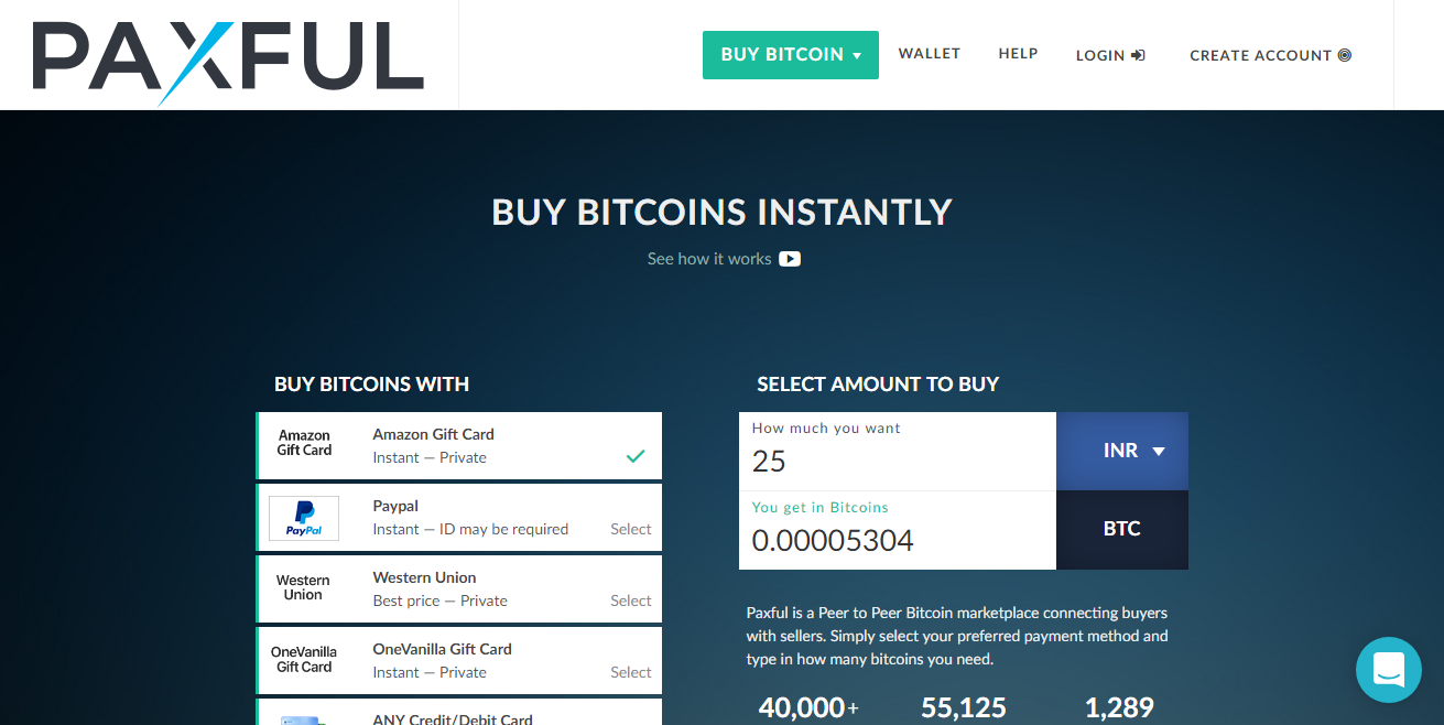 Paxful - Buy Bitcoin with Western Union