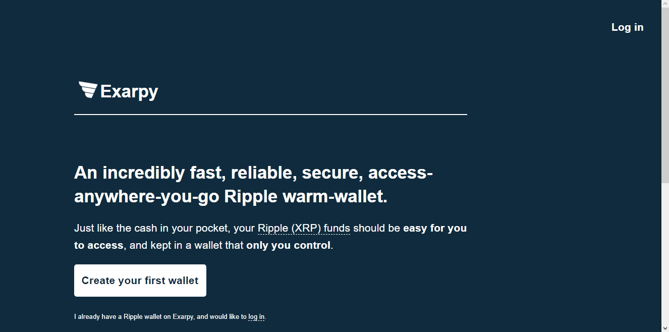 Exarpy Ripple Wallet