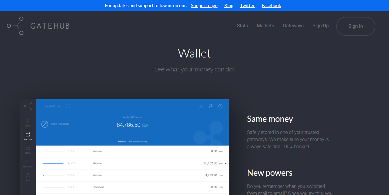 Gatehub Ripple Wallet
