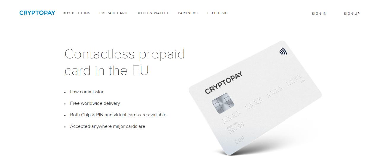Cryptopay Bitcoin Debit Card