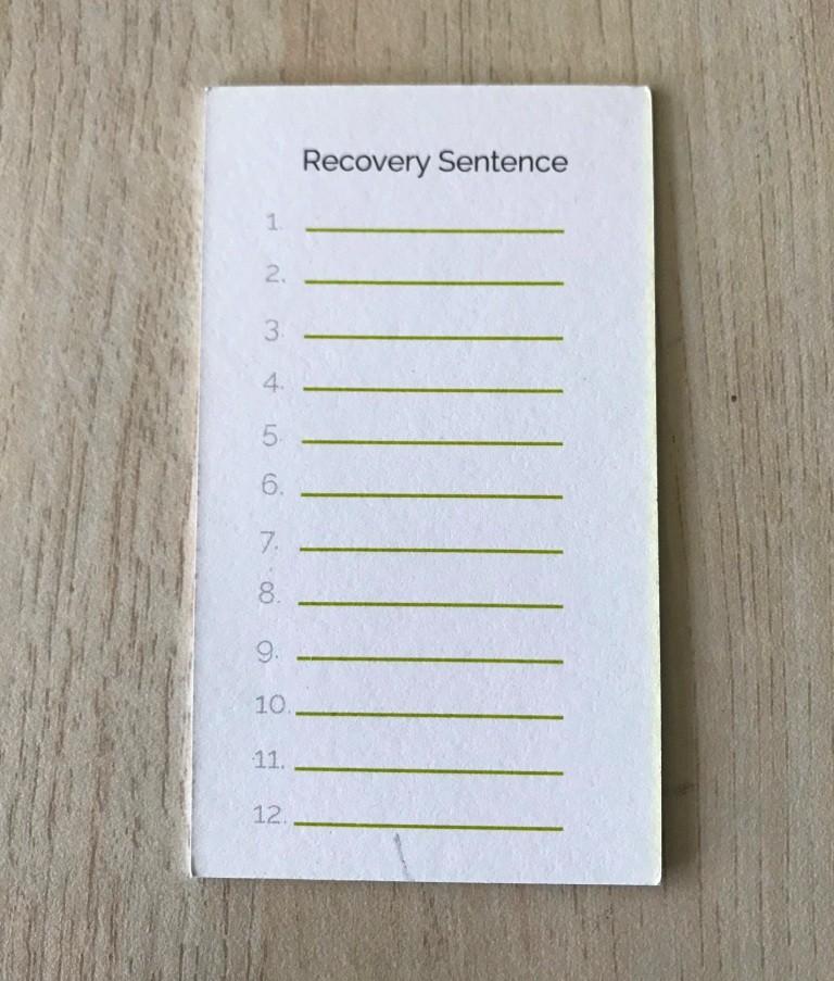 Keeykey Recovery Sheet