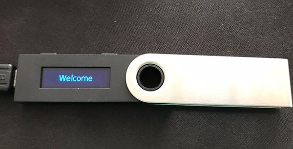 Ledger Nano S Welcome Screen