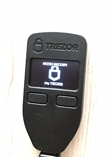 Trezor Logo on wallet