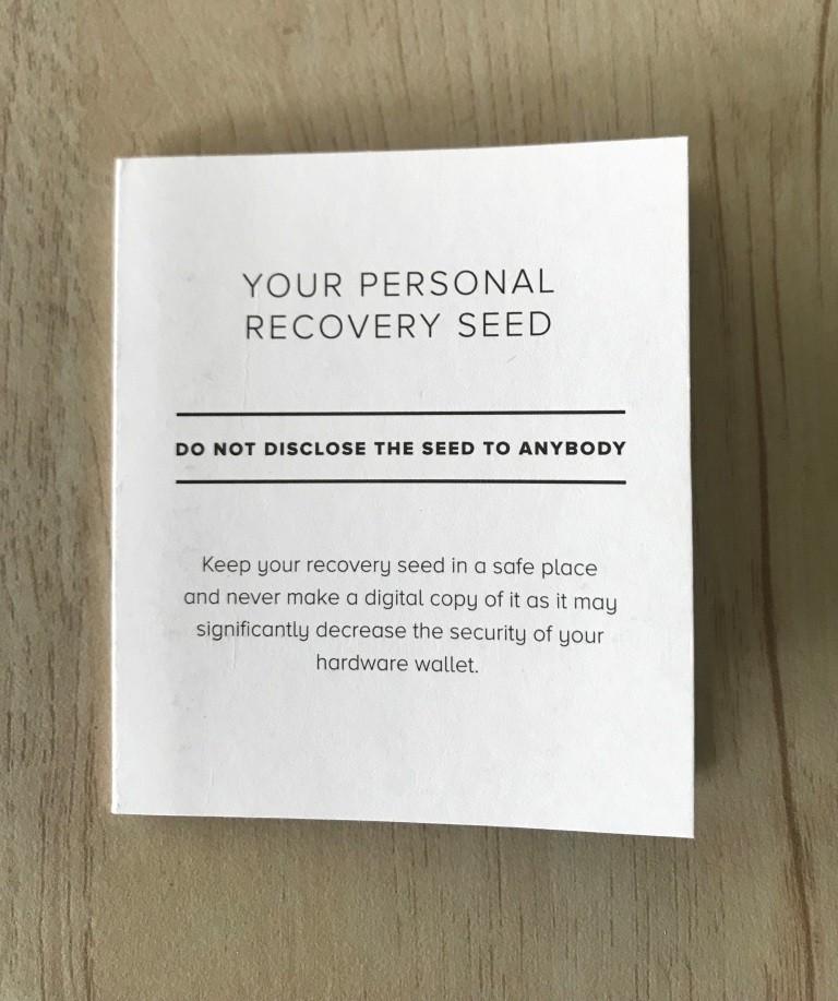 Trezor Recovery Sheet